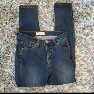 Free People Blue Skinny Jeans Size 26
